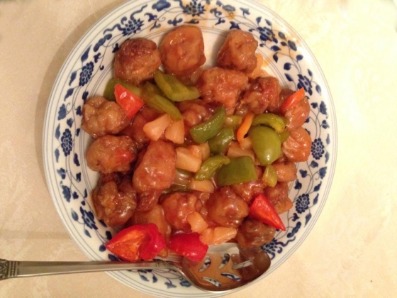 Meatless Sweet and Sour Chicken